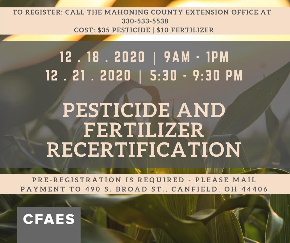 Pesticide Fertilization Recertification